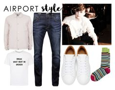 """""""Super Junior's Shindong"""" by quinn-avina ❤ liked on Polyvore featuring Juun.j, Jack & Jones, Topman, Marc Jacobs, Neiman Marcus, men's fashion, menswear and airportstyle"""