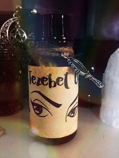 Excited to share this item from my shop: Jezebel Oil,Witchcraft,Hoodoo,Conjure,Wicca Witchcraft Herbs, Magick, Wiccan, Glamour Spell, Witch Alter, Beauty Spells, Jar Spells, Spiritual Bath, Oil Bottle