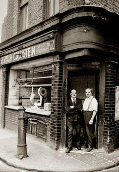 East End butcher's shop in the 60s