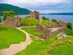 Castle ruins at Loch Ness, Scotland