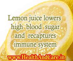 Lemon juice lowers high blood sugar and recaptures the immune system.Lemon juice lowers high blood sugar and recaptures the immune system. Lower Blood Sugar Naturally, Reduce Blood Sugar, High Blood Sugar, Diabetes Diet, Diabetes Facts, Diabetic Tips, Diabetic Meals, Diabetes Information, Milkshakes