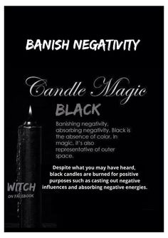 Candles:  #Candle Magick ~ Black.