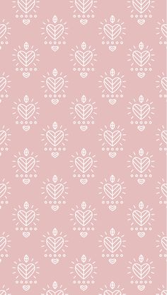 Blush pink white illustrated hearts iphone background lock screen phone wallpaper