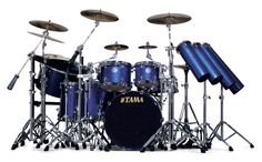 Tama Stewart Copeland Signature Starclassic Maple Drum Set (In Police Blue Sparkle) Ray Charles, Drums Wallpaper, Pearl Drums, Drummer Gifts, Drum Music, Vintage Drums, How To Play Drums, Beautiful Guitars, Violin
