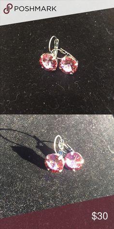 Swavorski pink Crystal earrings ‼️Sale❣Swavorski antique pink earrings 💎 Swarovski Jewelry Earrings
