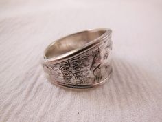 Peter Rabbit  Antique Spoon Ring   Size 7 and by WoodsEdgeJewelry