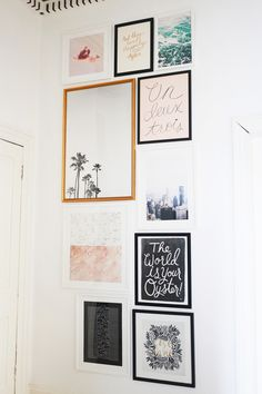 Our Hallway Gallery Wall. - KATE LA VIE