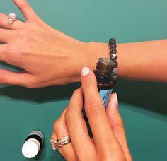 DIY lava stone essential oil bracelet