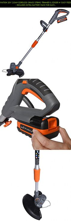 Ivation 20V 2.0AH Cordless Grass String Trimmer & Edger – Easy Feed - Includes Extra Battery Pack for Easy Cord-Free Trimming & Lawn Edging #racing #shopping #kit #tech #cordless #products #parts #drone #gadgets #camera #plans #t #trimmers #fpv #technology