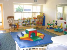 the soft play zone in the middle of the room is great for crawlers & beginning walkers