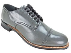 Stacy Adams Men's Madison Oxfords Steel Gray Leather Lace Up Dress Shoes Sz 8.5 | eBay