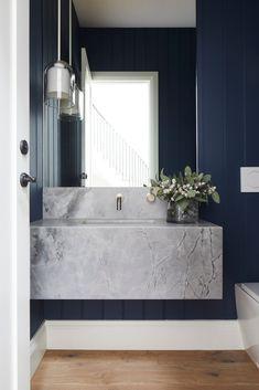 COASTAL LUXE - KWD Coastal Bathrooms, Ensuite Bathrooms, Dream Bathrooms, Hamptons House, The Hamptons, Small Toilet Room, Bathroom Interior Design, Bathroom Designs, Formal Living Rooms