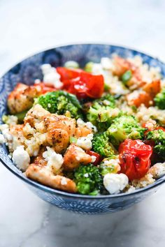 Chicken quinoa bowls have staked their healthy claim on quick and easy meal-prep dinners that are flexible enough to make for take-to-work lunches that never get boring too.