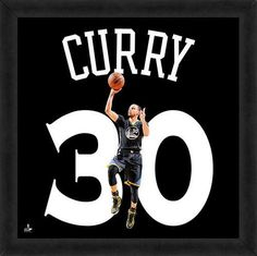 Stephen Curry Framed Golden State Warriors 20x20 Jersey Photo