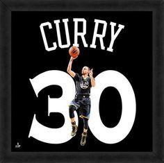Stephen Curry Framed Golden State Warriors 20x20 Jersey Photo