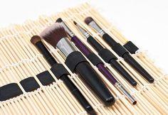 #portapennelli con stuoia sushi #organizzare #ordine #makeup #trucchi