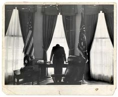 The Loneliest Job in the World: Original print of John F. Kennedy by Times photographer George Tames in 1961.