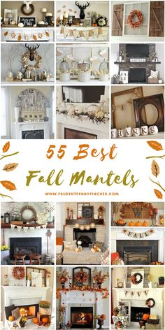fall mantle decor 55 Best Fall Mantels - 55 Fall Decor Ideas fo - 55 Best Fall Mantels 55 Fall Decor Ideas for Mantels - Modern Fall Decor, Fall Home Decor, Autumn Home, Diy Home Decor, Room Decor, Vintage Fall Decor, Fall Kitchen Decor, Fall Mantels, Fall Mantel Decorations