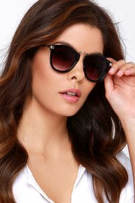 Frame or Shine Silver and Black Sunglasses at Lulus.com!