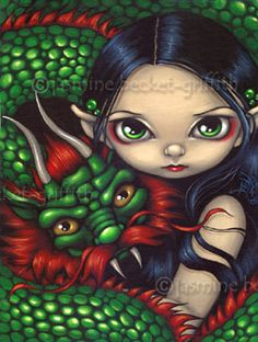 Emerald Guardian chinese dragon fairy art print by Jasmine Becket-Griffith Chinese Dragon Art, Fairy Pictures, Gothic Fairy, Anime Fairy, Fairy Art, Fantastic Art, Awesome, Art Portfolio, Faeries