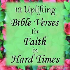 Life is hard! Really hard. No matter what you're going through, I truly hope that these 12 uplifting Bible verses for faith in hard times will give you the strength to carry on. Encouraging Bible Quotes, Strength Bible Quotes, Bible Verses About Strength, Bible Verses About Love, Inspirational Bible Quotes, Faith Bible, Favorite Bible Verses, Uplifting Quotes, Bible Verses Quotes