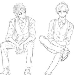 drawing anime boy manga sitting pose reference poses base sketch cute figure draw sketches log drawings von likes bc character