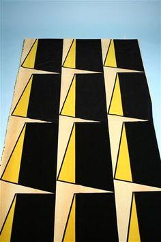 """Margot"" fabric designed by Olle Baertling for NK Textikammare, Sweden, 1950s.http://decdesignecasa.blogspot.it"