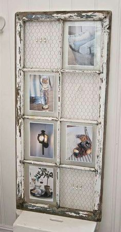 I like this idea for my kitchen to display photos, family recipes, etc.