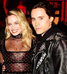 Margot and Jared leto!  --Be your own Whyld Girl with a wicked tee today! http://whyldgirl.com/tshirts