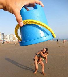 Because building sand castles at the beach can get boring