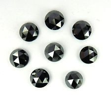 4.00MM Natural Loose Black Diamond Rose cut Round Chakri 1 pcs scoop