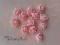 10 pcs Sakura Clay Light Pink, Clay Small flower, 0,70 inch polymer clay flowers, flowers beads,. Jewelry Supplies. di FlowerClaySupplies su Etsy
