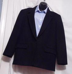 Pendelton Women's Black 100% Wool Blazer Vintage Size 12  #Pendleton #Blazer