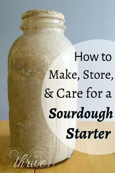 sourdough bread Dont let sourdough starters intimidate you! these steps and youll be a pro at making, storing, and caring for your sourdough starter. Sourdough Bread Starter, Yeast Starter, Sour Dough Starter, Yeast For Bread, Sourdough Bread Recipes, Recipe Using Sourdough Starter, Yeast Free Breads, Cornbread Recipes, Jiffy Cornbread