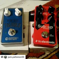 #Repost @jack.patterson00 with @repostapp  New pedal time #tremelo #octave #raygunfx #tcelectronic