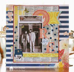 Vicki Chrisman- Layout- R & E - BoBunny Sweet Life- Tutorial on the Little Blue House Blog #lbhmediateam #thelittlebluehouse #bobunny