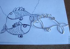 Создаем колье «Рыбы» из посеребренной проволоки - Ярмарка Мастеров - ручная работа, handmade