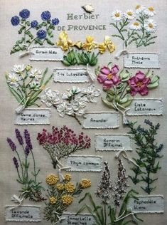 Provence flowers. This is exactly what I want to do with botanicals native to Scotland, Australia and Canada