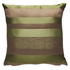 Wilko Jacquard Striped Cushion Green