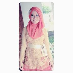 long sleeve lace dress but in Indonesia, we called it Kebaya, Indonesian's traditional dress! Pastel !