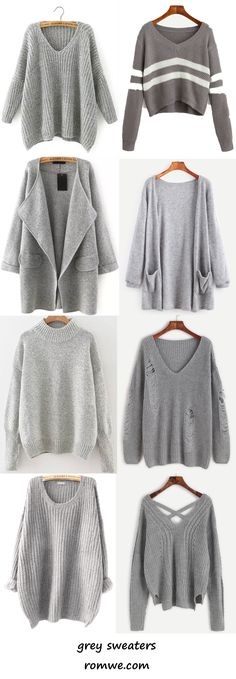 buy one get one - grey sweaters from romwe.com