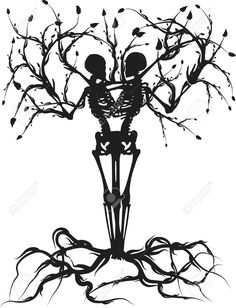 tree skeleton tattoo - Google Search