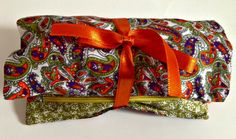 Paisley Design Handmade Cosmetic Bag Makeup Case by designedbyEzgi