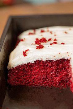 Moist Red Velvet Sheet Cake Recipe, Vanilla Sheet Cakes, Red Velvet Cake Mix, Sheet Cake Recipes, Cake Recipes From Scratch, Slab Cake, Chocolate Flavors, Chocolate Cakes, Classic Cake