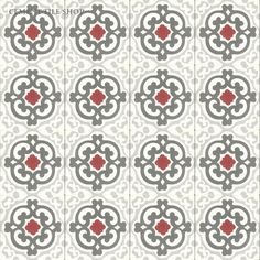 Cement Tile Shop - Handmade Cement Tile | Geneva Red