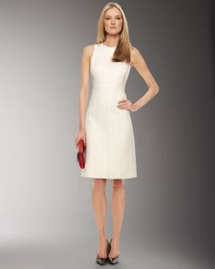 Seamed+Shift+Dress+by+Michael+Kors+at+Neiman+Marcus+Last+Call.