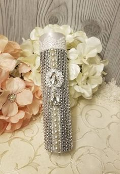 Bling Bouquet Holders Silver Metallic Mesh Ribbon Bouquet Holder MORE COLORS