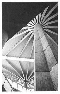 Detail: Pier Luigi Nervi Shadow Architecture, Space Architecture, Futuristic Architecture, Contemporary Architecture, Architecture Details, Structural Expressionism, Luigi Snozzi, Concrete Structure, Concrete Wood