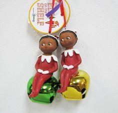 African Elf On Shelf Jingle Buddies Set Of 2