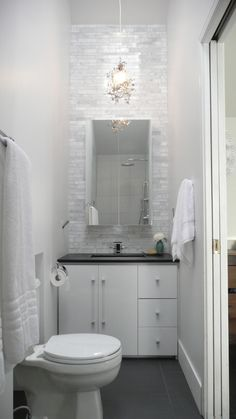 Modern Bathroom Design « Global Pacifique Group's blog - cut out to accommodate toilet or wall mount toilet